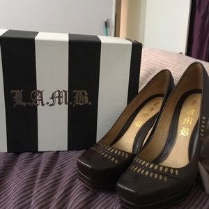 L.A.M.B. Brown heels